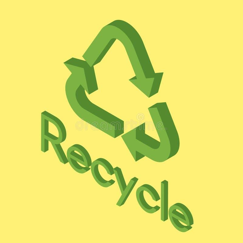 El icono del eco recicla ilustración del vector