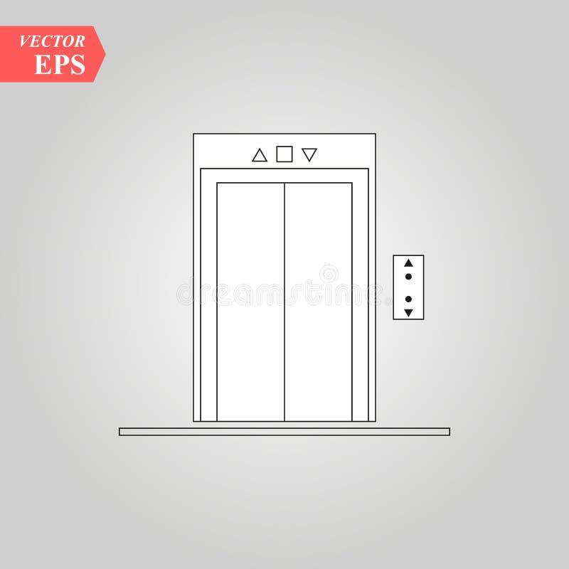 El icono del elevador, ejemplo aisló símbolo de la muestra del vector libre illustration