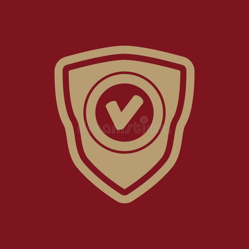 El icono del escudo Símbolo de la seguridad plano libre illustration