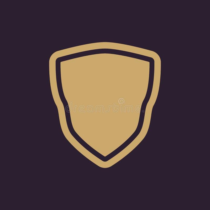 El icono del escudo Símbolo del escudo plano libre illustration