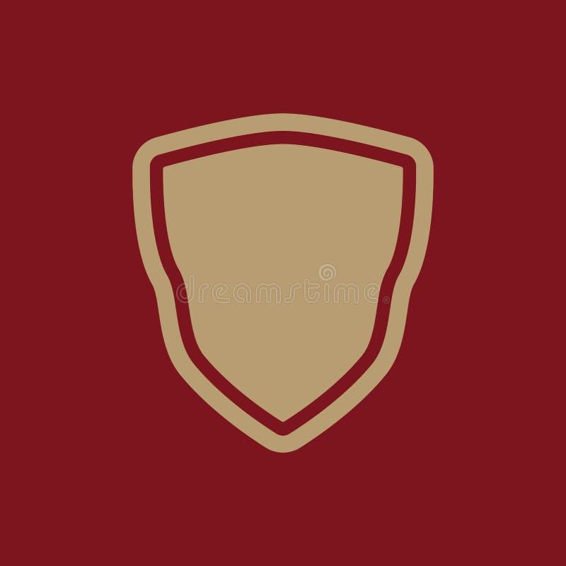 El icono del escudo Símbolo del escudo plano ilustración del vector