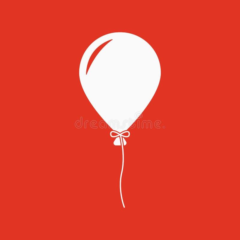 El icono del globo Símbolo del día de fiesta plano ilustración del vector