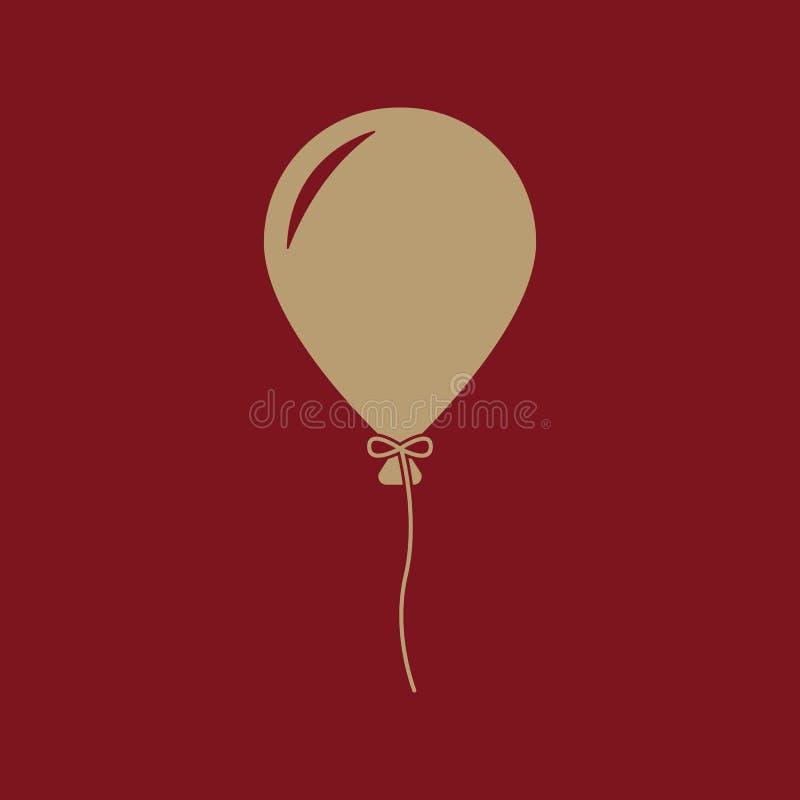 El icono del globo Símbolo del día de fiesta plano stock de ilustración