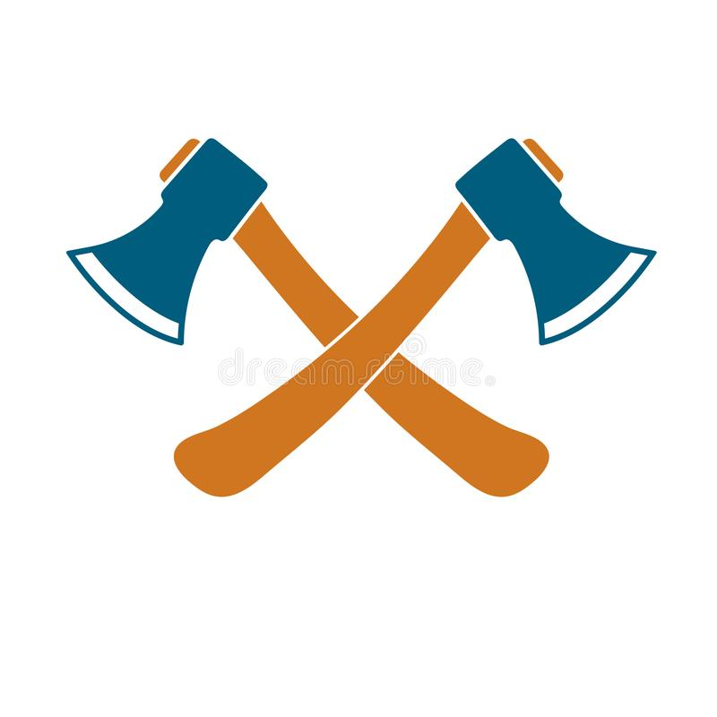 El icono del hacha Símbolo del hacha ilustración del vector