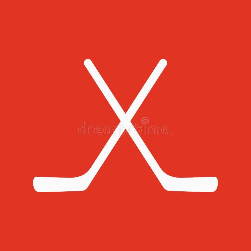 El icono del hockey Símbolo del juego plano stock de ilustración