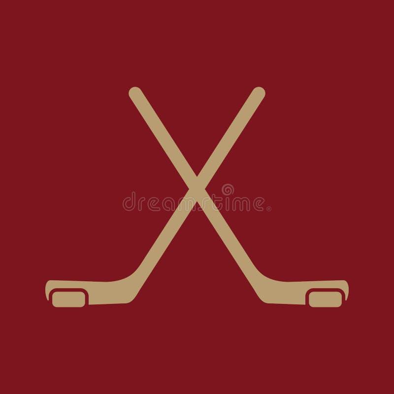 El icono del hockey Símbolo del juego plano ilustración del vector
