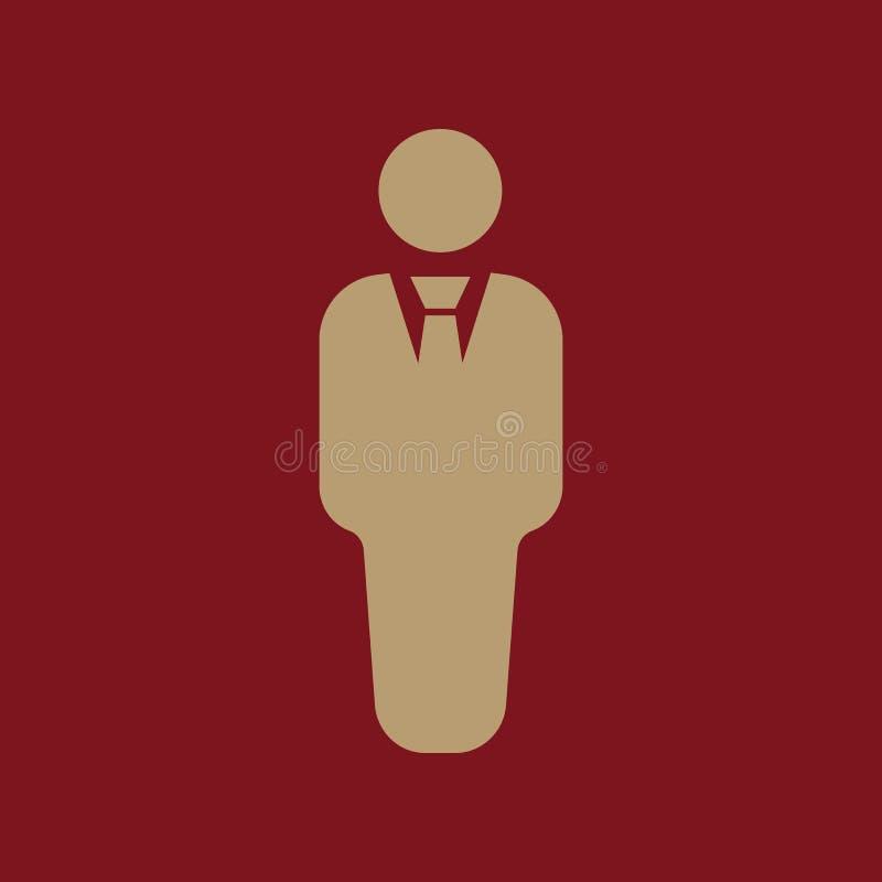 El icono del hombre de negocios Avatar y usuario, hombres, símbolo del caballero plano libre illustration