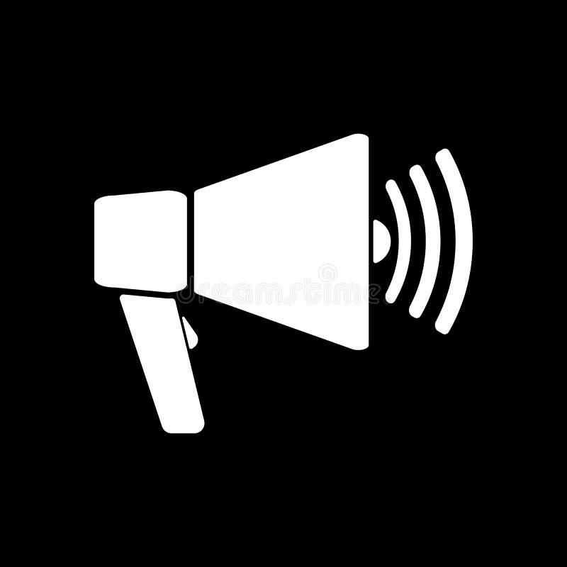 El icono del megáfono Símbolo del megáfono plano libre illustration