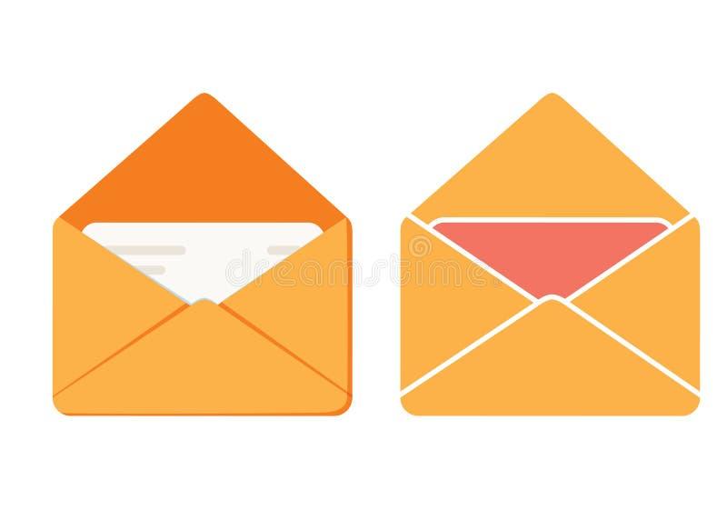 El icono del mensaje, icono del correo del vector del ejemplo del sobre, envía la letra aislada ilustración del vector