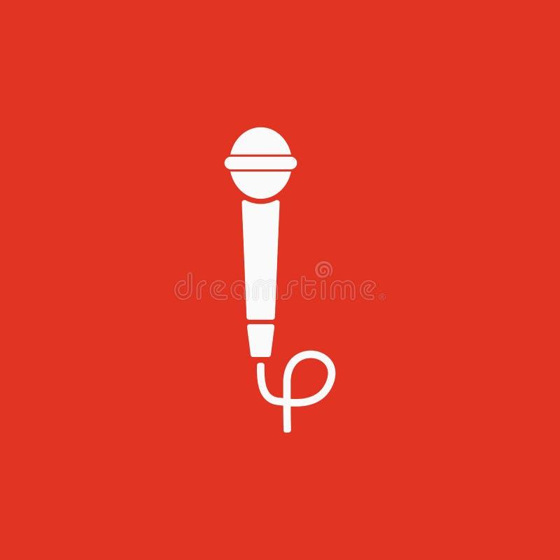 El icono del micrófono Símbolo sano plano stock de ilustración