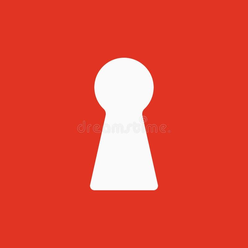 El icono del ojo de la cerradura Bloquee el símbolo plano ilustración del vector