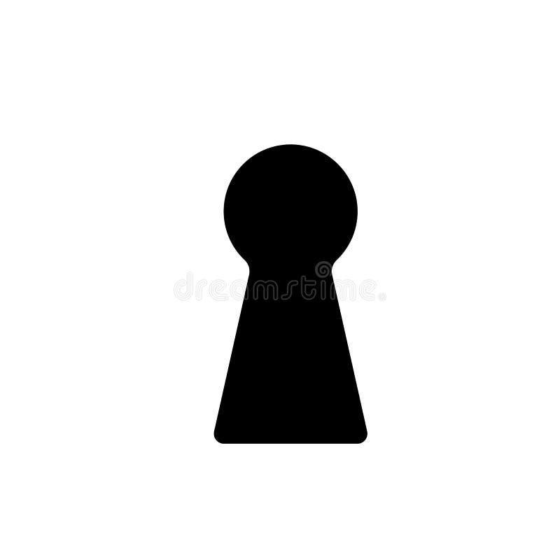 El icono del ojo de la cerradura Bloquee el símbolo plano libre illustration