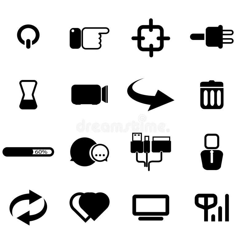 El icono del ordenador fijó 02 ilustración del vector