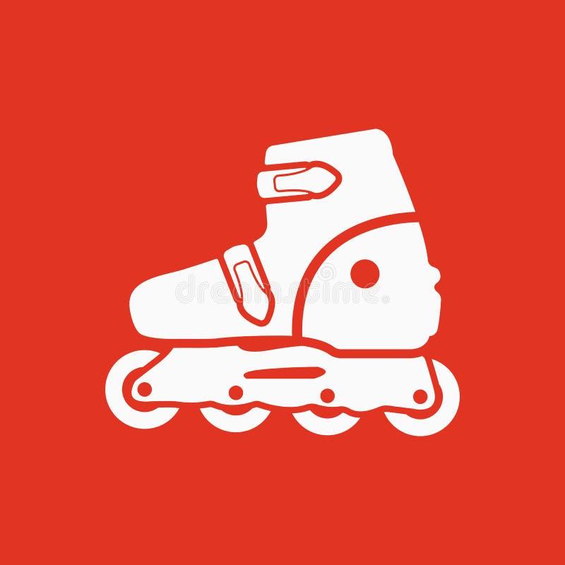 El icono del patín de ruedas Patina el símbolo plano stock de ilustración