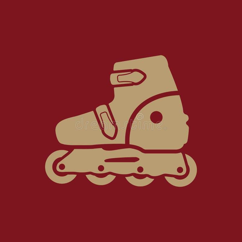 El icono del patín de ruedas Patina el símbolo plano libre illustration
