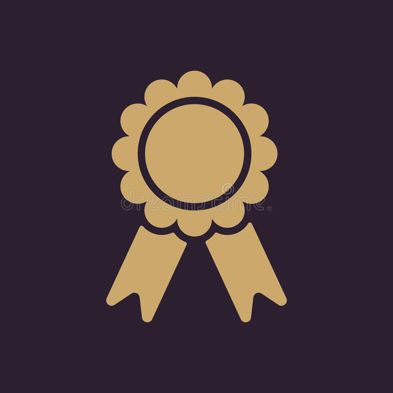 El icono del premio Símbolo del logro plano stock de ilustración