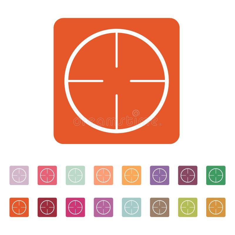 El icono del retículo Símbolo de la búsqueda plano stock de ilustración