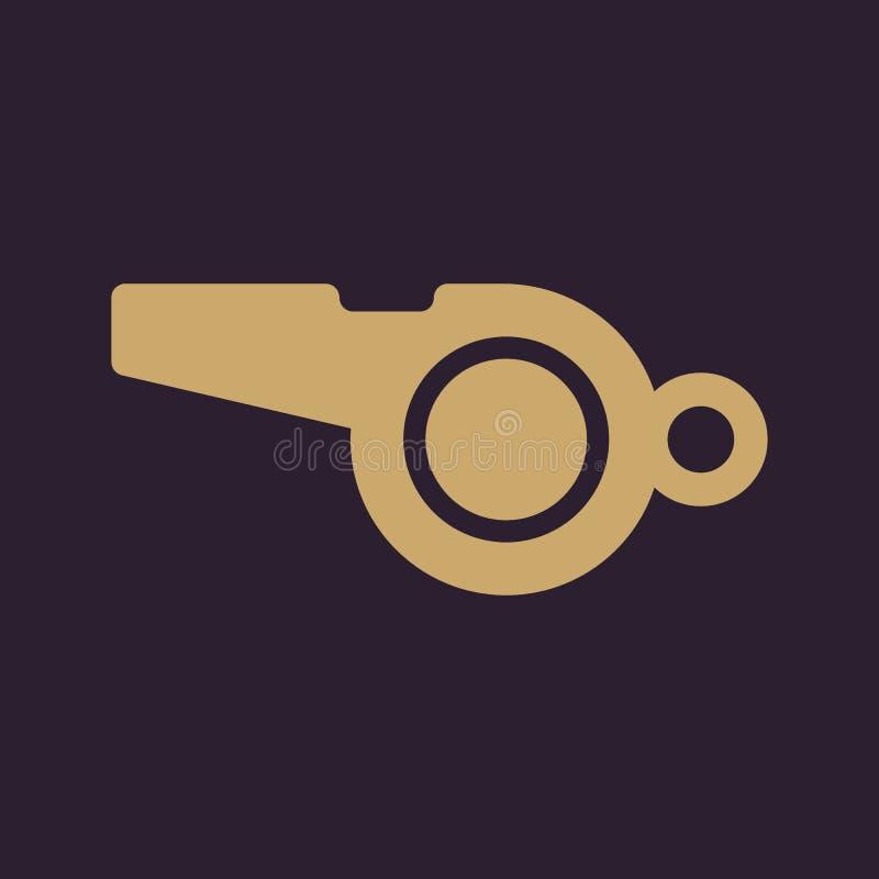 El icono del silbido Símbolo del árbitro plano stock de ilustración