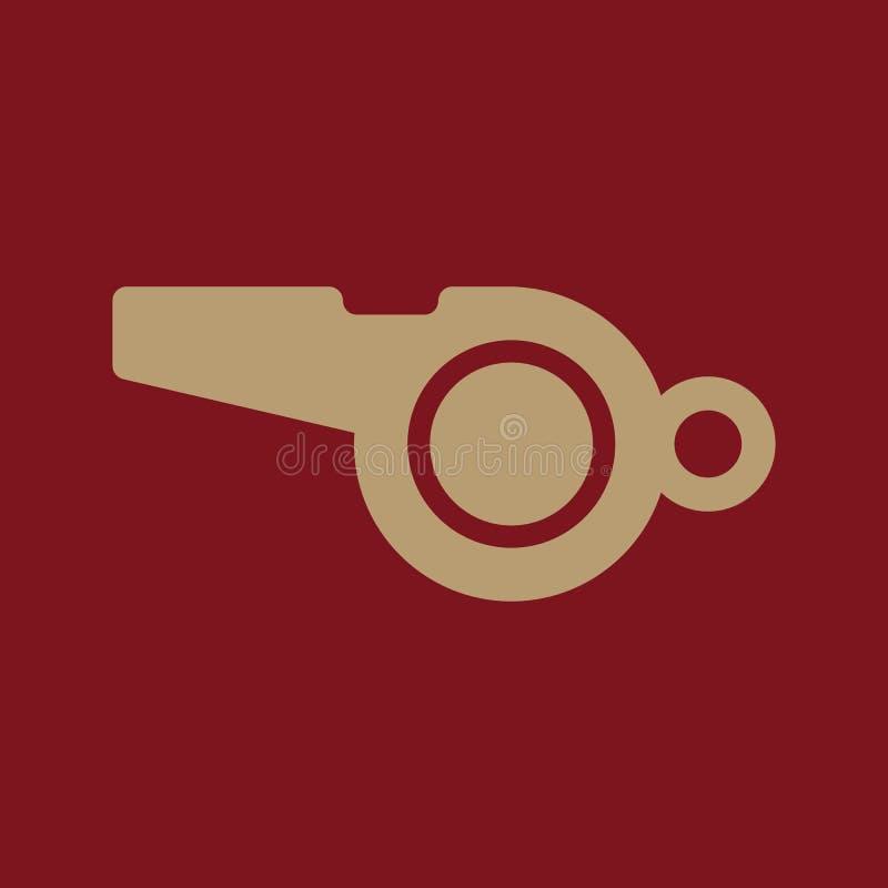 El icono del silbido Símbolo del árbitro plano libre illustration