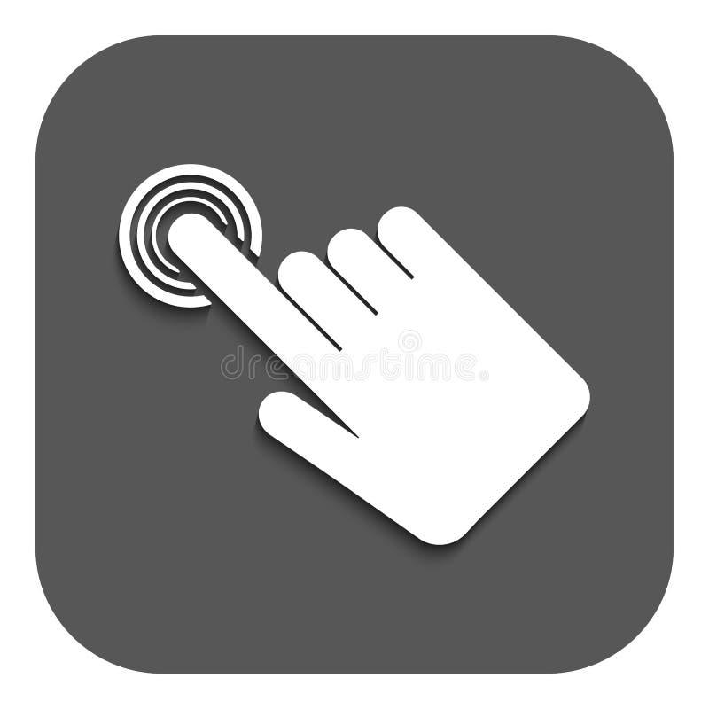 El icono del tecleo de la mano Símbolo del cursor plano libre illustration