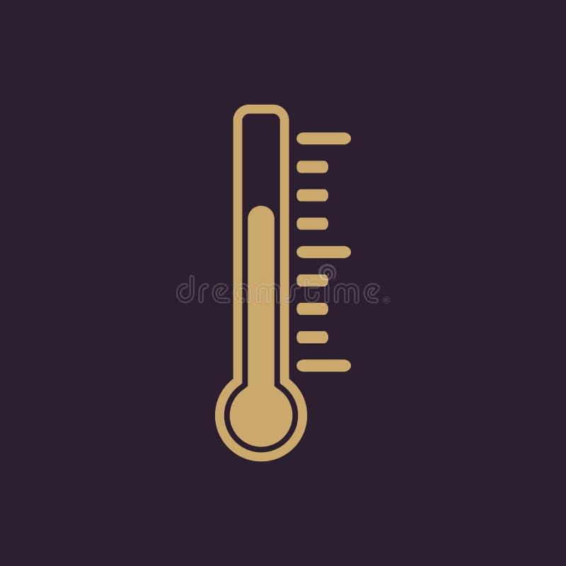 El icono del termómetro Símbolo del termómetro plano libre illustration