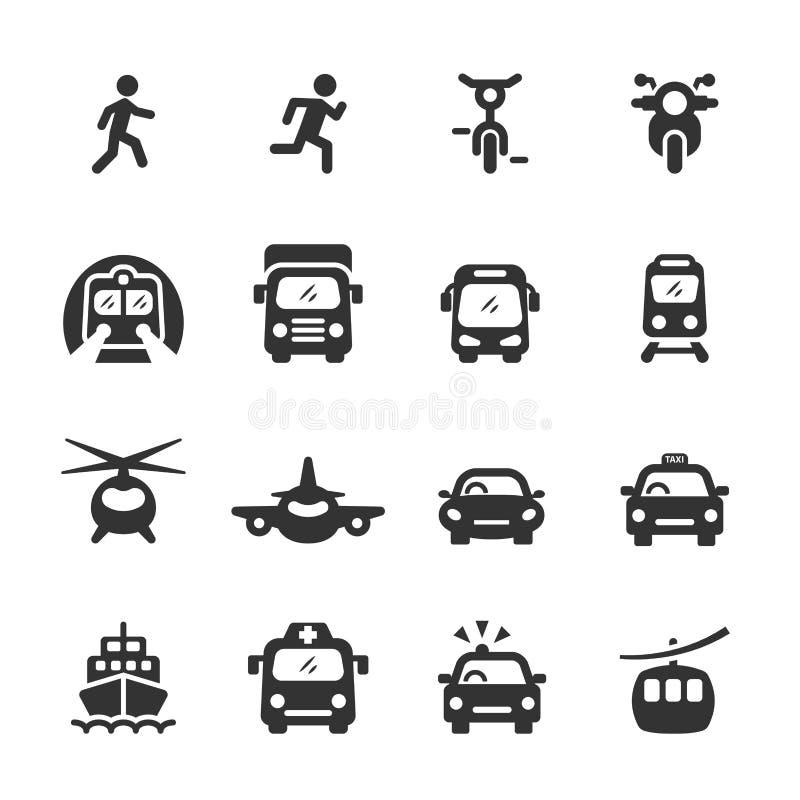 El icono del transporte y de los vehículos fijó 5, vector EPS 10 ilustración del vector