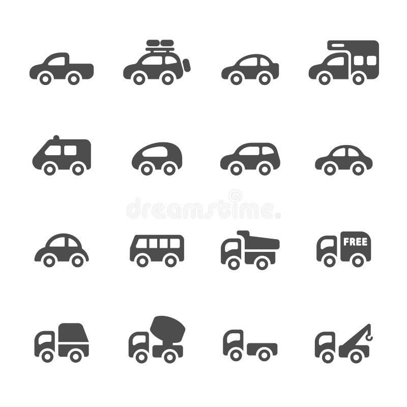 El icono del transporte y del vehículo fijó 2, vector eps10 stock de ilustración
