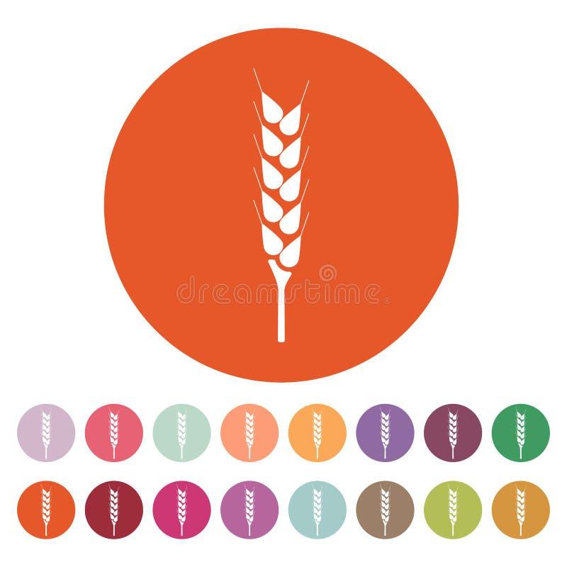 El icono del trigo Símbolo de Spica plano libre illustration