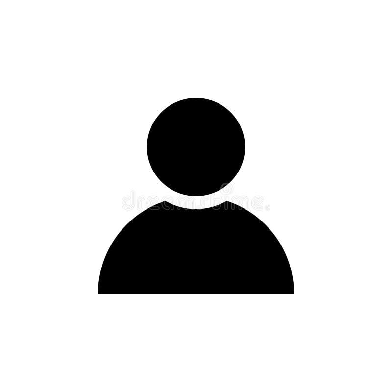 El icono del usuario, vector de la clave del miembro aisló stock de ilustración