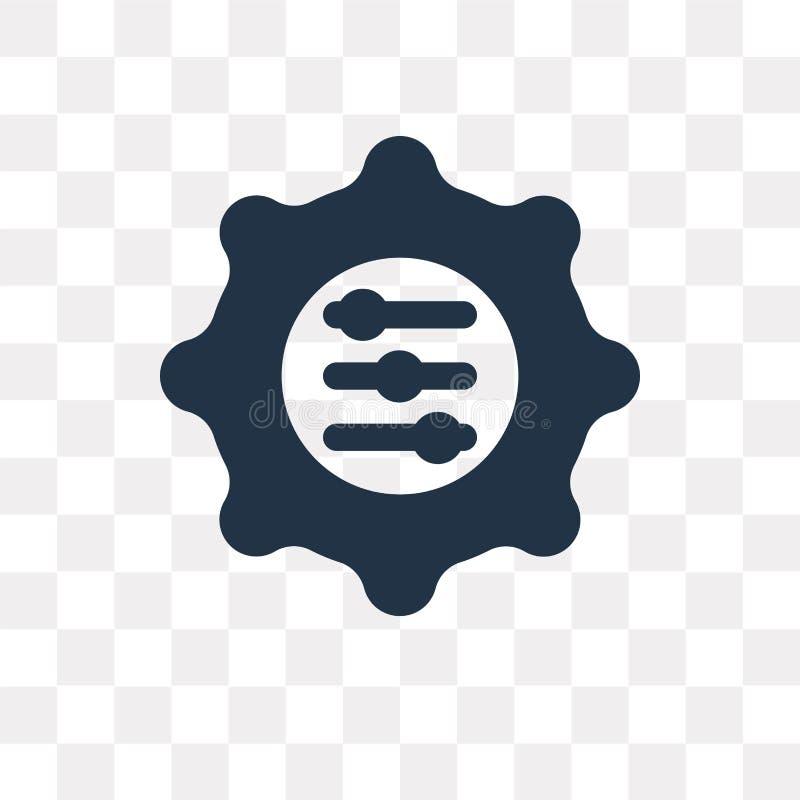 El icono del vector de la adaptación aislado en fondo transparente, se adapta ilustración del vector