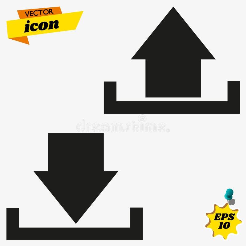 El icono del vector de la carga por teletratamiento de la transferencia directa, instala símbolo Carga por teletratamiento modern stock de ilustración