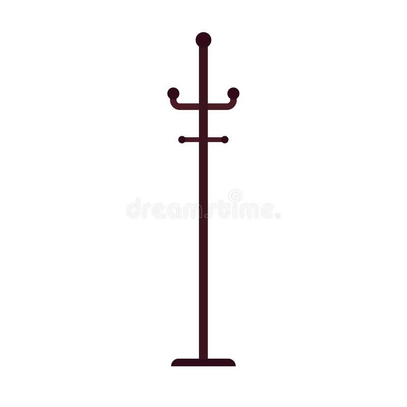 El icono del vector de la suspensión de ropa aisló blanco Guardarropa del símbolo de la capa del gancho de la moda Ropa del eleme ilustración del vector