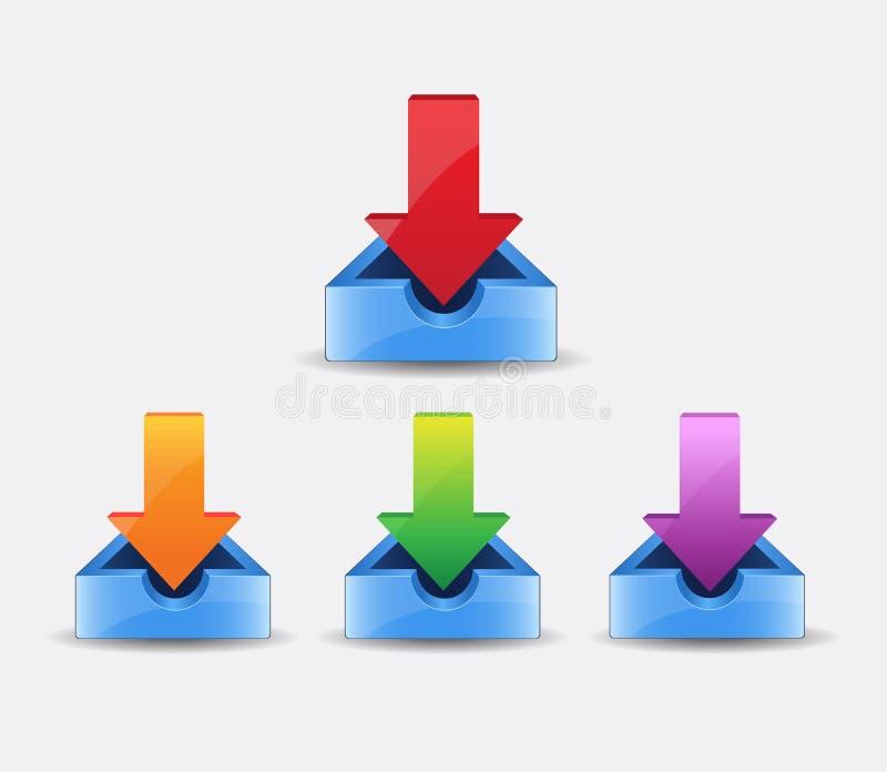 El icono del vector de la transferencia directa, instala símbolo Ejemplo plano moderno, simple del vector para el sitio web o app stock de ilustración