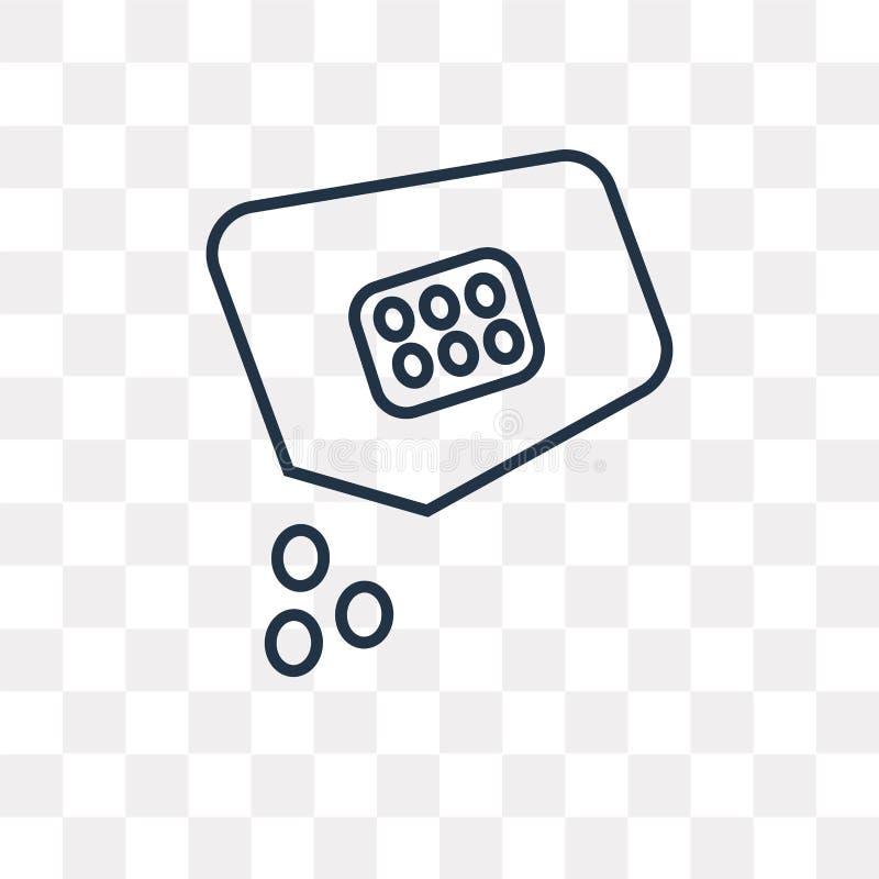 El icono del vector de las semillas aislado en el fondo transparente, linear considera ilustración del vector