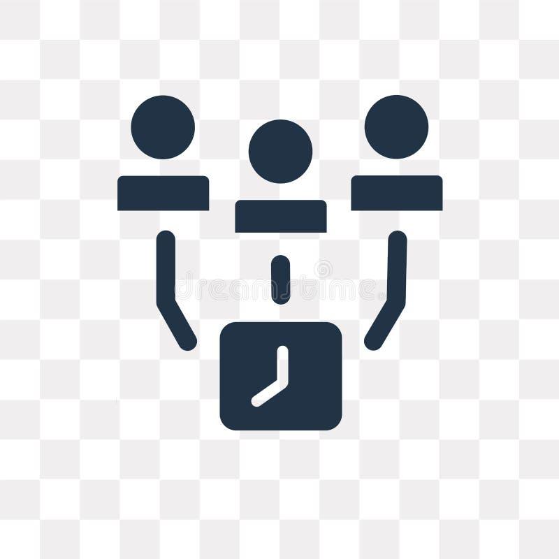 El icono del vector de los empleados aislado en fondo transparente, emplea ilustración del vector