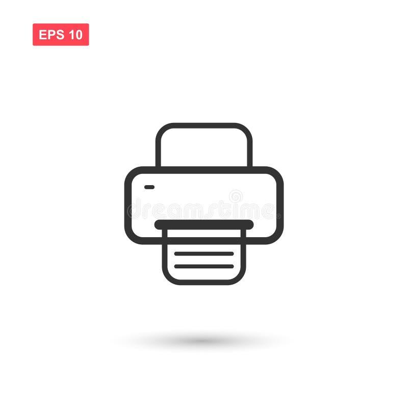El icono del vector del fax o de la impresora aisló stock de ilustración