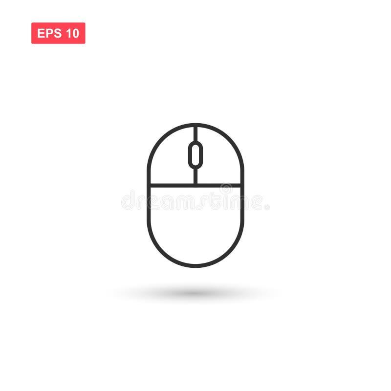 El icono del vector del ratón del ordenador aisló 1 stock de ilustración