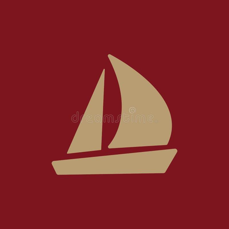 El icono del velero Símbolo del velero plano ilustración del vector