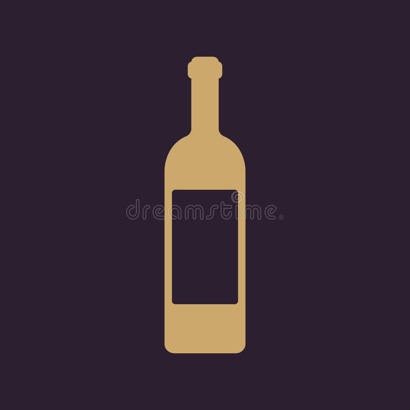 El icono del vino Símbolo de la botella plano libre illustration