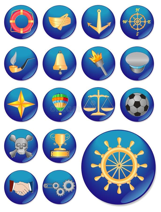El icono del Web. imagen del vector. libre illustration