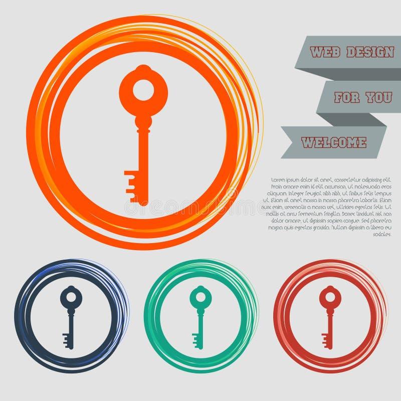 El icono dominante en los botones rojos, azules, verdes, anaranjados para su sitio web y diseño con el espacio manda un SMS libre illustration