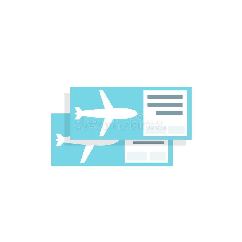 El icono en blanco del avión del boleto Ejemplo plano del vector ilustración del vector