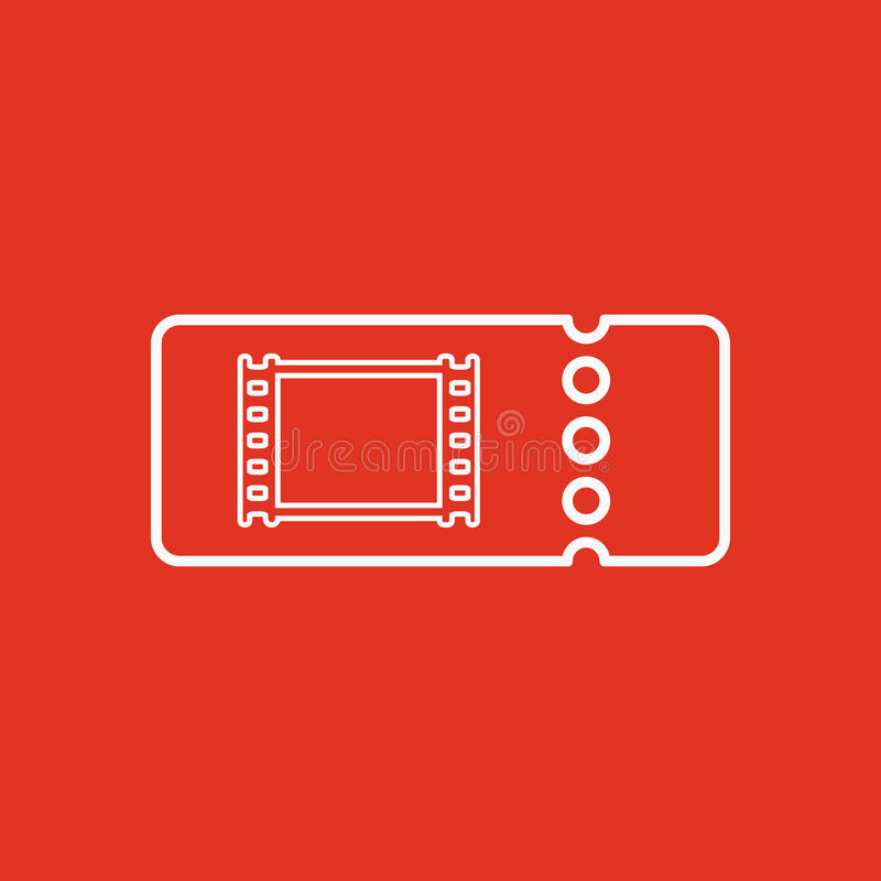 El icono en blanco del boleto del cine libre illustration
