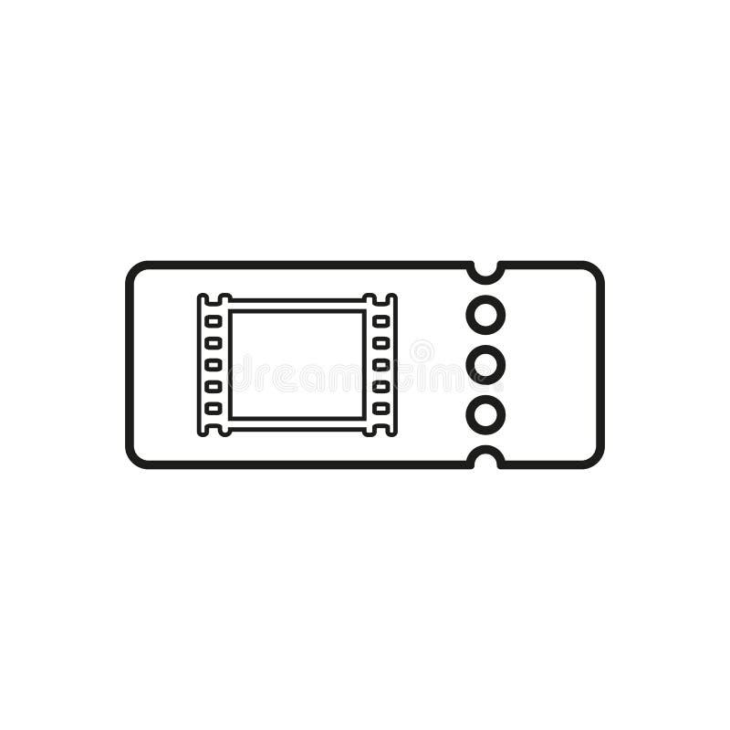 El icono en blanco del boleto del cine ilustración del vector