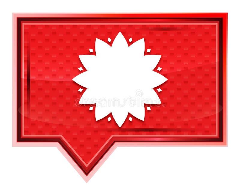 El icono frondoso de la flor brumoso subió botón rosado de la bandera libre illustration