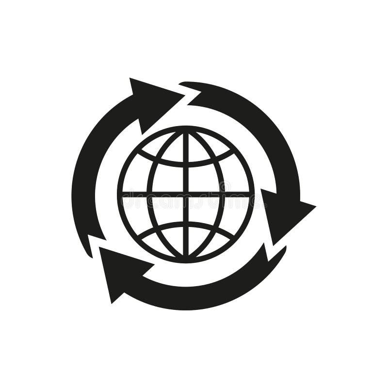 El icono global de la solución WWW y navegador, desarrollo, búsqueda, símbolo de SEO Ui web LOGOTIPO muestra Diseño plano app libre illustration