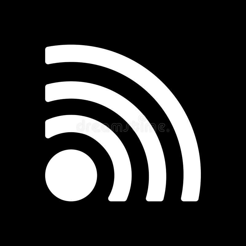 El icono inalámbrico Símbolo de Wifi stock de ilustración