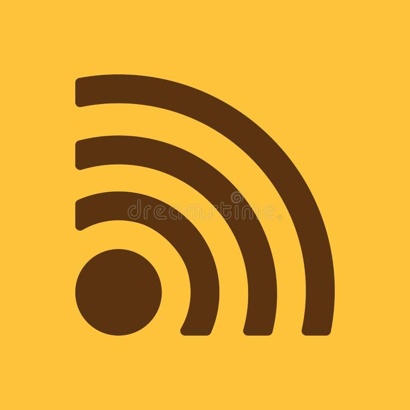 El icono inalámbrico Símbolo de Wifi libre illustration