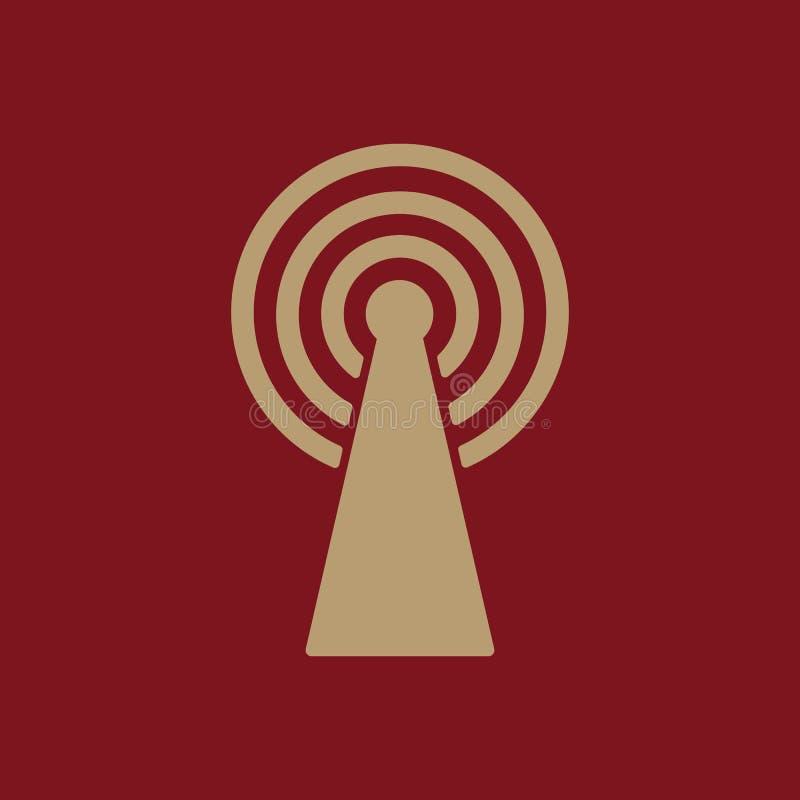 El icono inalámbrico Símbolo de Wifi ilustración del vector