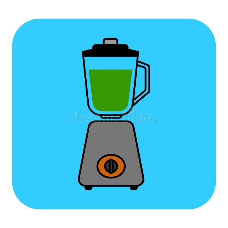 El icono inmóvil de la licuadora ilustración del vector